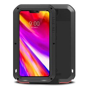 Bescherm uw LG G7 ThinQ met een van de zwaarste en meest beschermende hoesjes op de markt, ideaal om mogelijke schade door water en stof te helpen voorkomen - dit is de zwarte Love Mei Case.