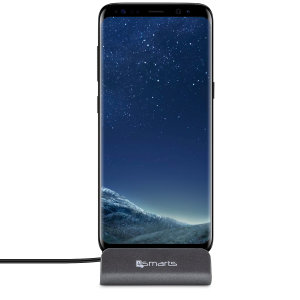 Synchronise and charge your Samsung Galaxy S8 with the stylish, useful and compact VoltDock desktop dock from 4smarts. This handy dock also doubles as a desk stand, allowing you to display your device in pride of place on any flat surface.