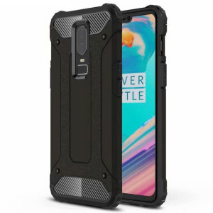 This rugged armour case by Encase provides the OnePlus 6 with excellent protection from bumps and drops. Its 2-part polycarbonate body is shock absorbing and has a frosted / brushed metal finish that perfectly complements the sleek OnePlus 6.