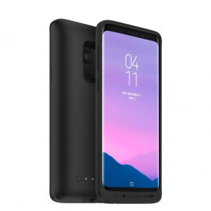 Never worry about battery life again with the Mophie Juice Pack in black for the Samsung Galaxy S9. This case provides robust protection for your S9 while offering up to 32 hours of battery life and Qi wireless charging.