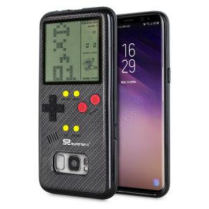 Transformez votre Samsung Galaxy S8 en une petite console portable à l'aide de la coque SuperSpot Retro Game en coloris noir carbone. Dotée d'un design ressemblant à celui de la Game Boy première du nom, cette coque vous offre des heures de jeu ainsi qu'une excellente protection à votre smartphone.