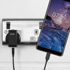 Charge your Nokia 7 Plus and any other USB device quickly and conveniently with this compatible 2.4A high power USB-C UK charging kit. Featuring a UK wall adapter and USB-C cable.