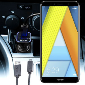 Keep your Huawei Honor 7A fully charged on the road with this compatible Olixar high power dual USB 3.1A Car Charger with an included high quality USB to Micro-USB charging cable.