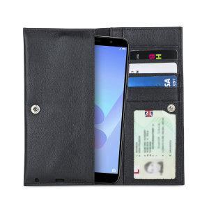 Fabricada con piel auténtica de alta calidad, con un acabado perfecto, esta funda-cartera de Olixar le dará un toque elegante a su Huawei Y6 2018 y le permitirá llevar documentos, dinero en efectivo, y más.