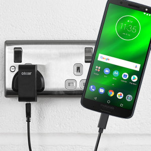 Charge your Motorola Moto G6 Plus and any other USB device quickly and conveniently with this compatible 2.4A high power USB-C UK charging kit. Featuring a UK wall adapter and USB-C cable.
