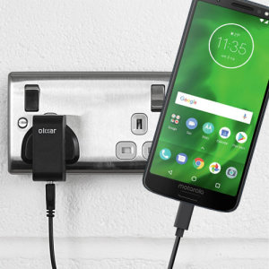 Charge your Motorola Moto G6 and any other USB device quickly and conveniently with this compatible 2.5A high power USB-C UK charging kit. Featuring a UK wall adapter and USB-C cable.