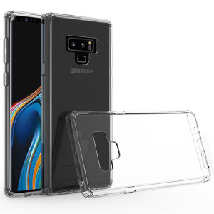 Custom moulded for the Samsung Galaxy Note 9. This crystal clear Olixar ExoShield tough case provides a slim fitting stylish design and reinforced corner shock protection against damage, keeping your device looking great at all times.