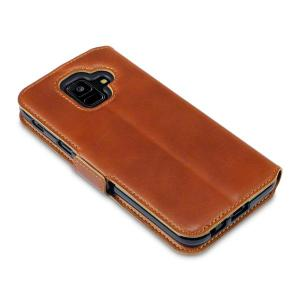 All the benefits of a wallet case but far more streamlined. The Olixar Low Profile Wallet Case in brown is the perfect partner for the the Samsung Galaxy A6 2018 owner on the move. What's more, this case transforms into a handy stand to view media.