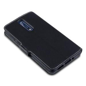 All the benefits of a wallet case but far more streamlined. The Olixar Low Profile in black is the perfect partner for the the Nokia 8 owner on the move. What's more, this case transforms into a handy stand to view media.