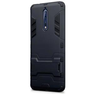 Protect your Nokia 8 from bumps and scrapes with this black dual layer armour case from Encase. Comprised of an inner TPU section and an outer impact-resistant exoskeleton, with a built-in viewing stand.