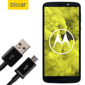 This 1 meter data / charging cable from Olixar allows you to connect your Motorola Moto G6 Play to a PC via Micro USB. It supports charging currents over 2 amps, so your Motorola Moto G6 Play can be up and running from flat in no time.