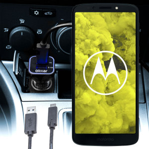 Keep your Motorola Moto G6 Play fully charged on the road with this compatible Olixar high power dual USB 3.1A Car Charger with an included high quality USB to Micro-USB charging cable.