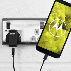 Charge your Motorola Moto G6 Play quickly and conveniently with this compatible 2.5A high power charging kit. Featuring mains adapter and USB cable.