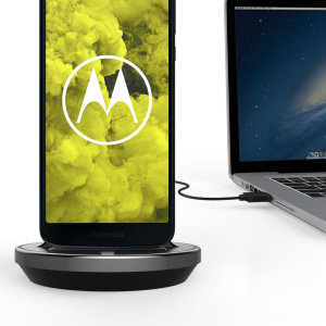 Synchronise and charge your Motorola Moto G6 Play with this stylish and case compatible desktop dock which also acts as a multimedia stand.