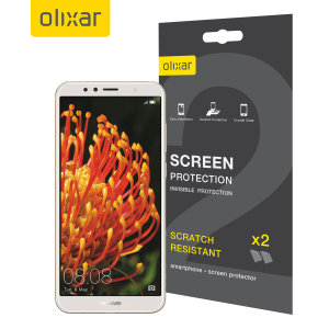 Keep your Huawei Honor Y6 2018's screen in pristine condition with this Olixar scratch-resistant screen protector 2-in-1 pack.