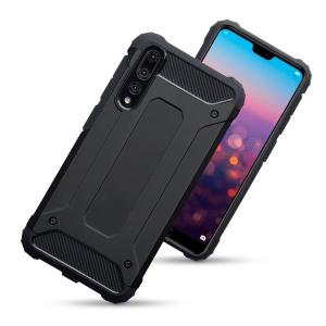 Protect your Huawei P20 Pro from bumps and scrapes with this black dual layer armour case from Olixar. Comprised of an inner TPU section and an outer impact-resistant exoskeleton.