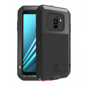 Protect your Samsung Galaxy A6 Plus 2018 with one of the toughest and most protective cases on the market, ideal for helping to prevent possible damage from water and dust - this is the black Love Mei Powerful Protective Case.