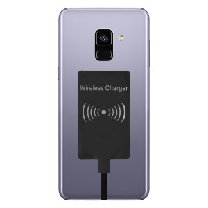 Enable wireless charging for your Samsung Galaxy A8 2018 without having to modify your phone or use a specialist case with this Ultra Thin Qi Wireless Charging Adapter.