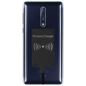 Enable wireless charging for your Nokia 8 without having to modify your phone or use a specialist case with this Ultra Thin Qi Wireless Charging Adapter.