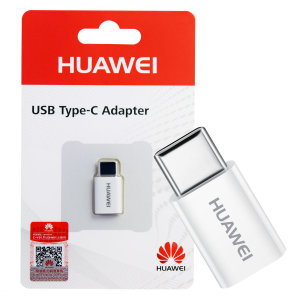 Official Huawei Micro USB to USB-C Adapter - White - Retail Pack