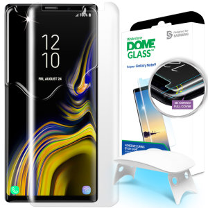 The Whitestone Dome Glass screen protector for Galaxy Note 9 uses a UV lamp with a proprietary UV adhesive installation to ensure a total and perfect fit for your device. Featuring 9H hardness for absolute protection, as well as 100% touch sensitivity.