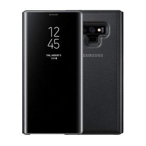 La protection Officielle Samsung Galaxy Note 9 Clear View Stand Cover en coloris noir est le moyen idéal pour protéger votre précieux smartphone et vous permettre l'affichage des notifications entrantes grâce à son rabat protecteur transparent.