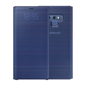 Protégez votre Samsung Galaxy Note 9 des dommages accidentels et consultez les notifications entrantes en un coup d'œil grâce à la protection LED View Cover Officielle en coloris bleu.