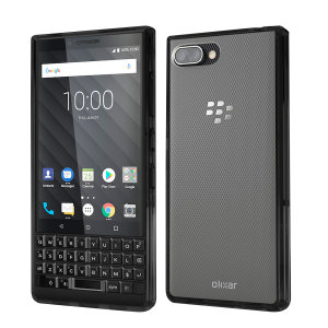 Custom moulded for the Blackberry Key2. This black Olixar ExoShield tough case provides a slim fitting stylish design and reinforced corner shock protection against damage, keeping your device looking great at all times.