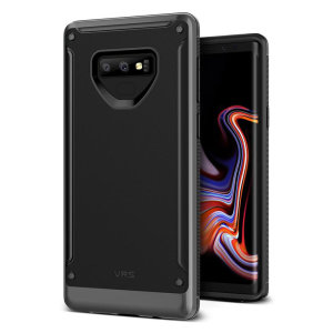 Protect your Samsung Galaxy Note 9 with this precisely designed High Pro Shield series case in steel silver from VRS Design. Made with tough dual-layered yet slim material, this hardshell body with a sleek bumper features an attractive two-tone finish.