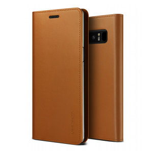 Protect your Samsung Galaxy Note 9 with this precisely designed flip case in brown from VRS Design. Made with genuine premium leather, the VRS Design Diary oozes style and attractiveness.