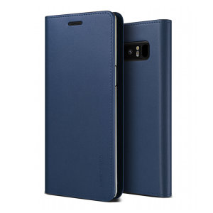 Protect your Samsung Galaxy Note 9 with this precisely designed flip case in navy from VRS Design. Made with genuine premium leather, the VRS Design Diary oozes style and attractiveness.