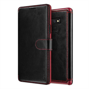 The VRS Design Dandy Wallet Case in black for the Samsung Galaxy Note 9 comes complete with card slots, a large document pocket and is made with a luxurious leather-style material for a classic, prestige and professional look.