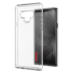 Protect your Samsung Galaxy Note 9 with this precisely designed and durable case from VRS Design. Made with sturdy, yet flexible premium material, this clear polycarbonate hardshell features a slim design with precise cut-outs for your phone's ports.
