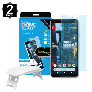 The Dome Glass screen protector twin pack for the Pixel 2 XL from Whitestone uses a proprietary UV adhesive installation to ensure a total and perfect fit for your device. Featuring 9H hardness for absolute protection, as well as 100% touch sensitivity.