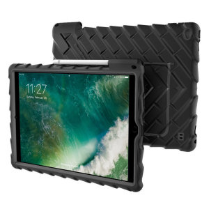 The multi-angle Hideaway Stand Case from Gumdrop in black for the iPad Pro 12.9 inch features reinforced rubber bumpers and a built-in slot for the Apple Pencil, allowing you to keep your precious new iPad safe and secure at all times.
