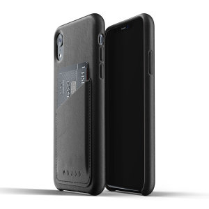 Designed for the iPhone XR, this black genuine leather case from Mujjo provides a perfect fit and durable protection against scratches, knocks and drops with the added convenience of a credit card-sized slot.