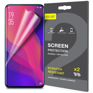 Keep your Oppo Find X's screen in pristine condition with this Olixar scratch-resistant screen protector 2-in-1 pack.