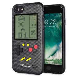 Transform your iPhone 7 into a classic games console with this Retro Game Case by SuperSpot. Featuring an original Game Boy styled design, this case in carbon black will keep you entertained for hours while offering excellent protection for the iPhone 7.
