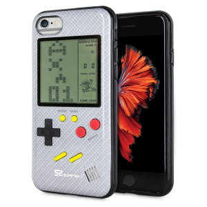 Transform your iPhone 6 into a classic games console with this Retro Game Case by SuperSpot. Featuring an original Game Boy styled design, this case in carbon white will keep you entertained for hours while offering excellent protection for the iPhone 6.