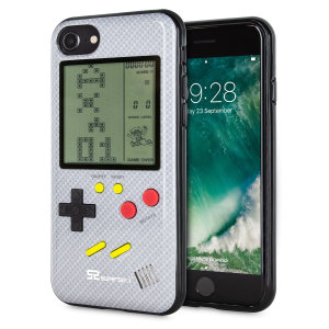 Transform your iPhone 7 into a classic games console with this Retro Game Case by SuperSpot. Featuring an original Game Boy styled design, this case in carbon white will keep you entertained for hours while offering excellent protection for the iPhone 7.