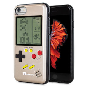 Transform your iPhone 6 into a classic games console with this Retro Game Case by SuperSpot. Featuring an original Game Boy styled design, this case in gold will keep you entertained for hours while offering excellent protection for the iPhone 6.