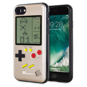 Transform your iPhone 7 into a classic games console with this Retro Game Case by SuperSpot. Featuring an original Game Boy styled design, this case in gold will keep you entertained for hours while offering excellent protection for the iPhone 7.