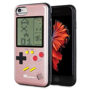Verwandeln Sie Ihr iPhone 6 in eine klassische Spielekonsole mit dieser Retro Spiele Hülle von SuperSpot. Mit seinem originellen Design im Game Boy-Stil sorgt diese Hülle in Rot dafür, dass Sie stundenlang unterhalten werden und bietet gleichzeitig hervorragenden Schutz für das iPhone.