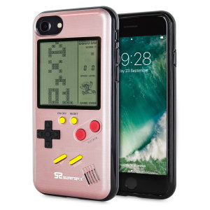Transform your iPhone 7 into a classic games console with this Retro Game Case by SuperSpot. Featuring an original Game Boy styled design, this case in rose gold will keep you entertained for hours while offering excellent protection for the iPhone 7.