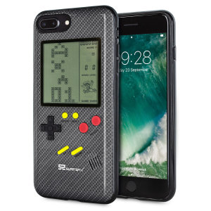 Transform your iPhone 7 Plus into a classic games console with this Retro Game Case by SuperSpot. Featuring an original Game Boy styled design, this case in carbon black will keep you entertained for hours while offering excellent protection.