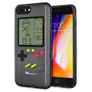 Transform your iPhone 8 Plus into a classic games console with this Retro Game Case by SuperSpot. Featuring an original Game Boy styled design, this case in carbon black will keep you entertained for hours while offering excellent protection.