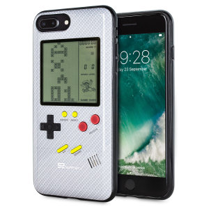 Transform your iPhone 7 Plus into a classic games console with this Retro Game Case by SuperSpot. Featuring an original Game Boy styled design, this case in carbon white will keep you entertained for hours while offering excellent protection.