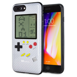 Transform your iPhone 8 Plus into a classic games console with this Retro Game Case by SuperSpot. Featuring an original Game Boy styled design, this case in carbon white will keep you entertained for hours while offering excellent protection.