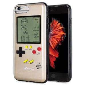 Transform your iPhone 6 Plus into a classic games console with this Retro Game Case by SuperSpot. Featuring an original Game Boy styled design, this case in gold will keep you entertained for hours while offering excellent protection.