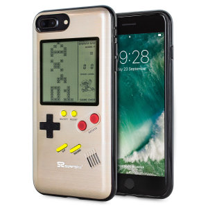 Transform your iPhone 7 Plus into a classic games console with this Retro Game Case by SuperSpot. Featuring an original Game Boy styled design, this case in gold will keep you entertained for hours while offering excellent protection.